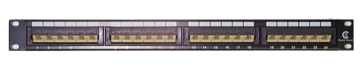 "Patch Panel 19"" 1U - 24 Portas - CAT5e LINDY (20756)"